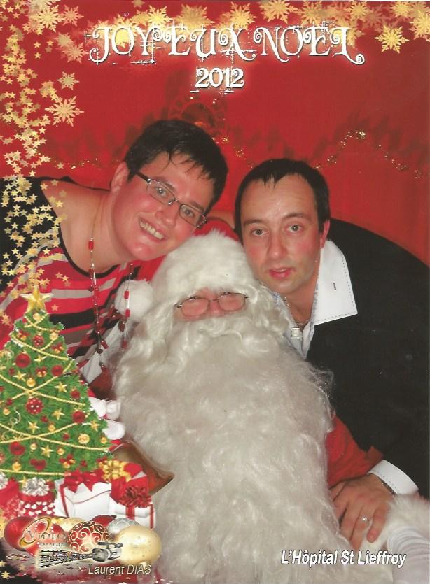Père Noël avec animateur